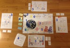 Spelbar prototyp av spelplanen